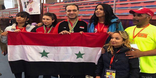 ست ميداليات ذهبية لسورية في البطولة الأفروعربية للقوة البدنية