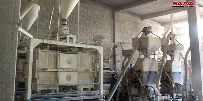 مطحنة الفرات ترفع طاقتها الإنتاجية إلى 65 طنا من الدقيق يوميا