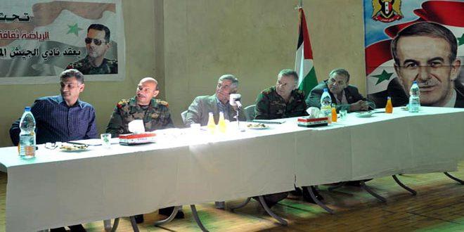 تشكيل رابطة اقتصادية لدعم ألعاب نادي الجيش