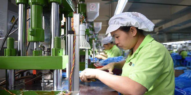 ارتفاع الناتج الصناعي الصيني في الأرباع الثلاثة الأولى