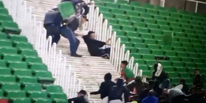إصابة عشرة شرطيين وتوقيف 30 شخصا بعد شغب في مباراة بالدوري الجزائري