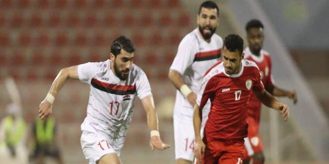 منتخب سورية لكرة القدم يتعادل مع نظيره العماني