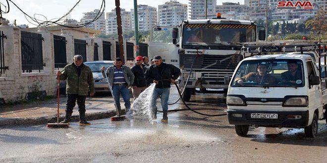 حملة نظافة واسعة في مدينة اللاذقية