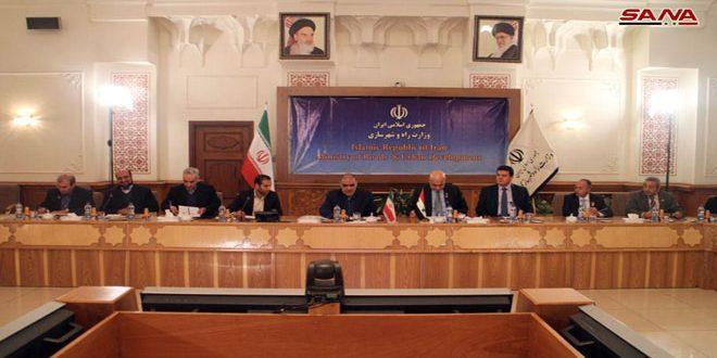 أميني: تعزيز التعاون في المجالات الاستثمارية والإنتاجية بين سورية وإيران