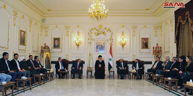 أفرام الثاني لوفد أردني: الشعب السوري انتصر على الإرهاب
