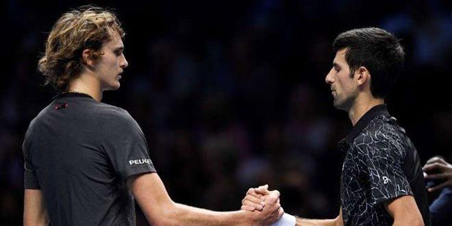 ديوكوفيتش يهزم زفيريف في البطولة الختامية لتنس الرجال