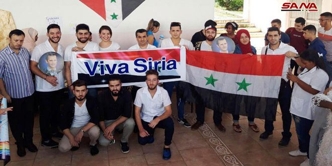 طلبة سورية في كوبا يجددون وقوفهم مع وطنهم في حربه على الإرهاب