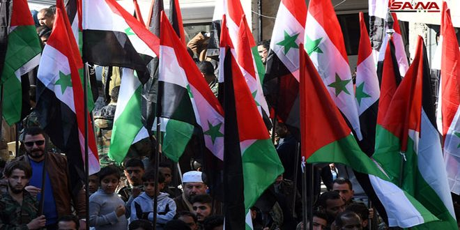 إحياء ليوم الشهيد القومي العربي.. احتفال في السبينة بريف دمشق