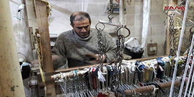 صناعة البسط اليدوية في حماة.. حرفة تراثية تقاوم الاندثار