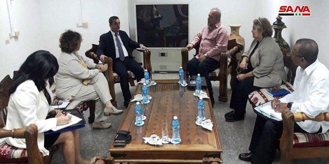 وزير السياحة الكوبي يؤكد رغبة بلاده بتعزيز التعاون مع سورية