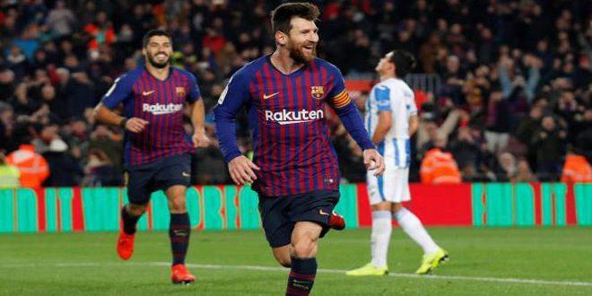 برشلونة يفوز على ليغانيس بالدوري الإسباني