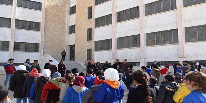 تربيتا حلب ودير الزور تستكملان تأهيل وتجهيز المدارس المتضررة جراء الإرهاب