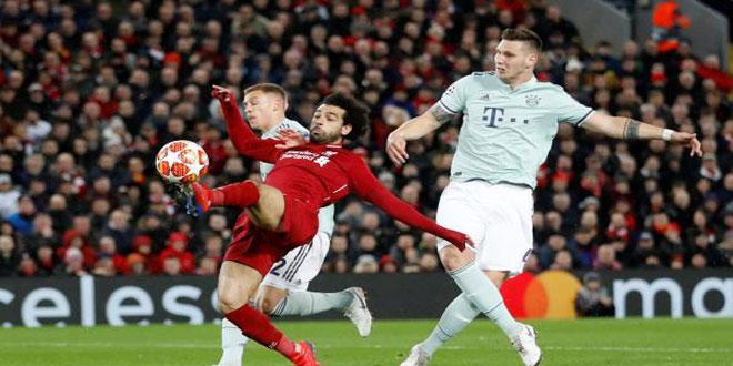 بايرن يتعادل سلبا مع ليفربول في ذهاب دور الـ16 بدوري أبطال أوروبا