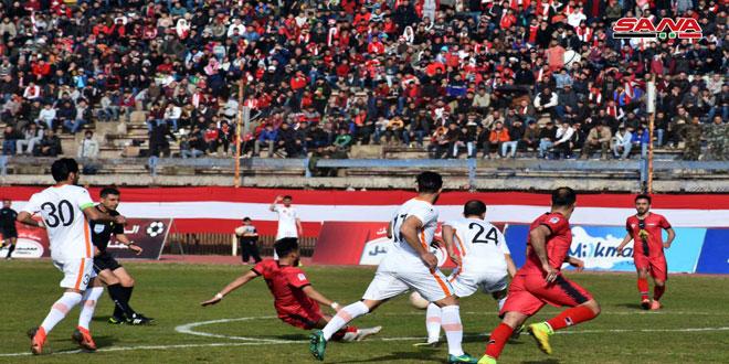 تشرين ينفرد بصدارة الدوري الممتاز لكرة القدم