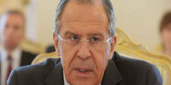 لافروف: القضاء على الإرهاب في سورية وإيجاد حل سياسي للأزمة فيها