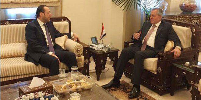 السفير عبد الكريم يبحث مع تقي الدين الأوضاع في المنطقة