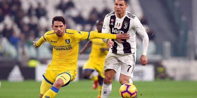 يوفنتوس يتغلب على فروزينوني بثلاثية في الدوري الإيطالي بكرة القدم