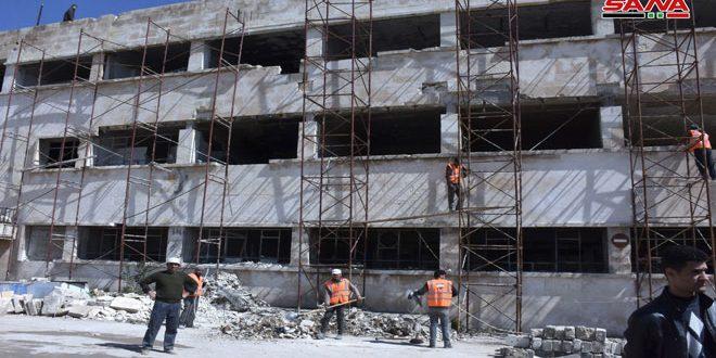 وزير الداخلية يطلع على أعمال ترميم سجن حلب المركزي