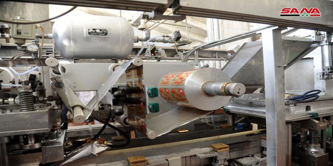ألبان دمشق تبدأ بتشغيل خط إنتاج اللبن واللبنة المعلبين