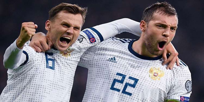 روسيا تتغلب على كازاخستان في تصفيات يورو 2020