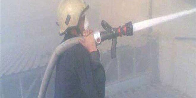 إخماد حريق في شقة سكنية بجرمانا والأضرار مادية