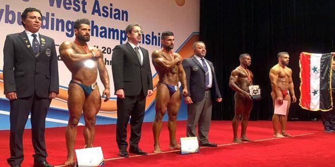 ثماني ميداليات لسورية في بطولة غرب آسيا لبناء الأجسام