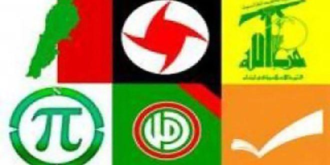 الأحزاب الوطنية اللبنانية: التنسيق مع سورية في مختلف المجالات