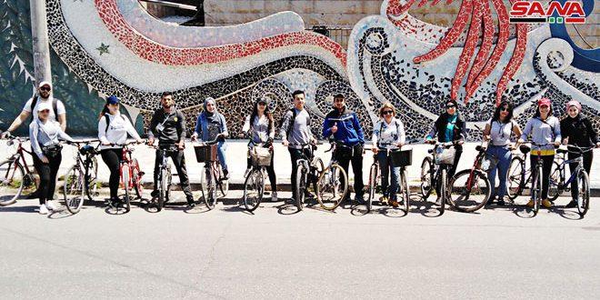 مسير دراجات هوائية في اللاذقية تشجيعا لاستخدامها
