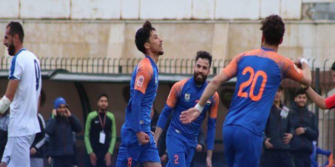 تشرين يعزز صدارته لدوري كرة القدم والكرامة يفوز على حطين بثلاثية