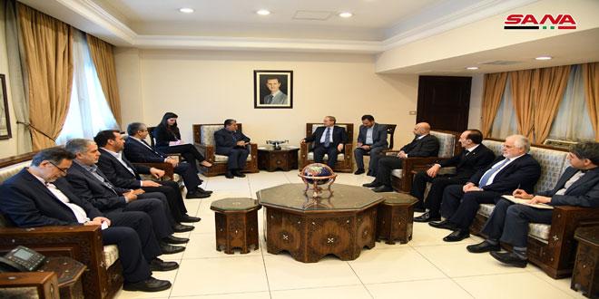 المقداد لوفد برلماني إيراني: عمق العلاقات يسهم في تحقيق الأهداف المشتركة للبلدين