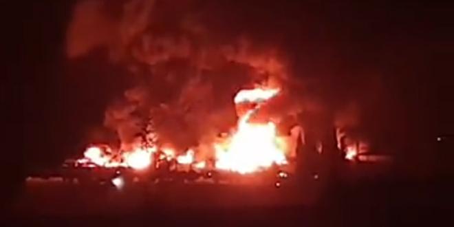 إخماد حريق بمعمل دهانات في الكسوة.. إصابة شخص وأضرار مادية كبيرة