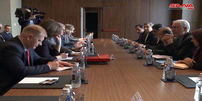 اجتماع بين الوفدين الروسي والإيراني في إطار محادثات أستانا حول تسوية الأزمة في سورية