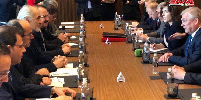 وفد الجمهورية العربية السورية يعقد اجتماعين مع الوفدين الروسي والإيراني في إطار محادثات أستانا