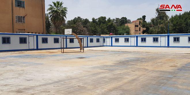 تركيب 50 غرفة صفية مسبقة الصنع في مدارس الحسكة والقامشلي