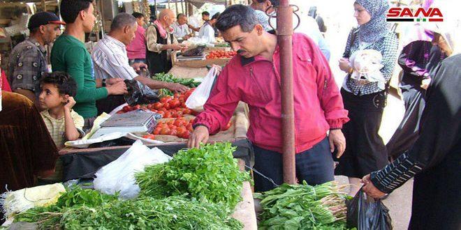 انخفاض أسعار الخضار والفواكه في أسواق درعا