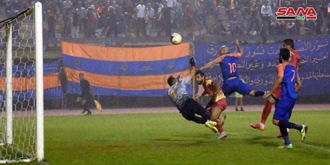 تشرين يتأهل إلى الدور نصف النهائي لكأس الجمهورية بكرة القدم