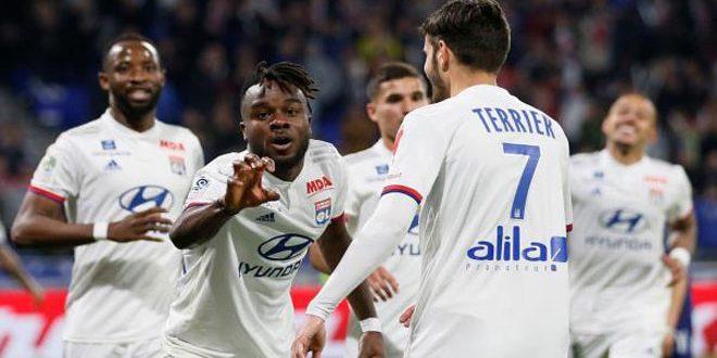 ليون يفوز على كان في دوري الدرجة الأولى الفرنسي لكرة القدم
