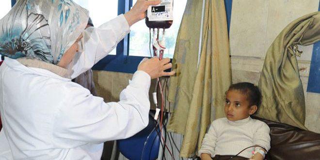 مشفى كرم اللوز بحمص يخدم 500 مريض تلاسيميا مجاناً