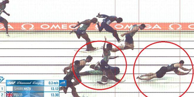 الروسي شوبينكوف يحرز ذهبية سباق 110م حواجز رغم سقوطه قبل خط النهاية