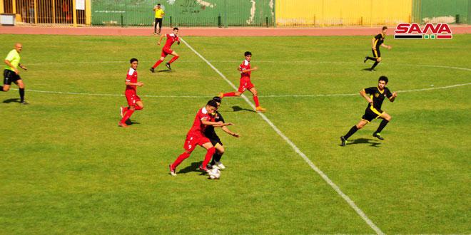 منتخب سورية بكرة القدم للناشئين يفوز على ناشئي العربي