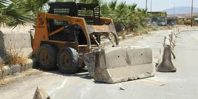 فتح الطريق الواصل بين المنطقة الصناعية ودوار السجن المركزي في حماة