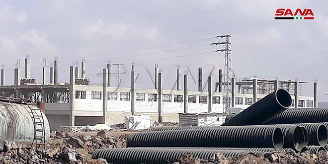 17 منشأة صناعية تبدأ أعمال البناء بمدينة أم الزيتون الصناعية بالسويداء