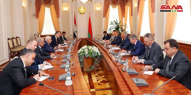 رئيس وزراء بيلاروس يبحث مع المعلم سبل تعزيز العلاقات بين البلدين في المجال الاقتصادي