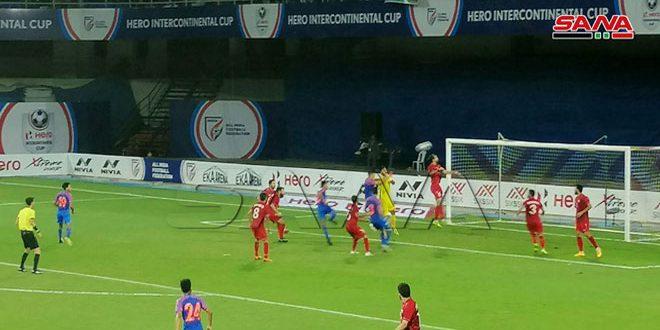 (صور) من مباراة منتخب سورية ونظيره الهندي في بطولة الهند الدولية