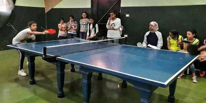 اختتام بطولة حمص بكرة الطاولة