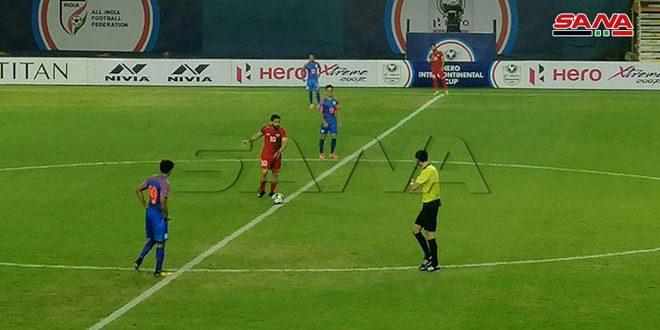 منتخب سورية للرجال بكرة القدم يتعادل مع نظيره الهندي