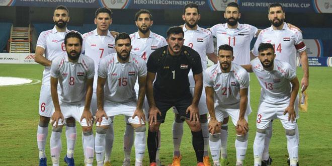 منتخب سورية في المجموعة الأولى لبطولة غرب آسيا بكرة القدم