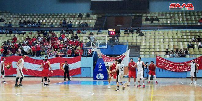 فريق الجيش يتأهل إلى الدور النهائي بدوري كرة السلة للرجال