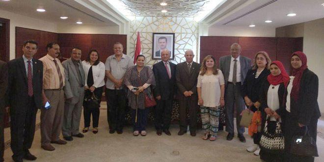 التجمع العربي والإسلامي لدعم خيار المقاومة بمصر يؤكد تضامنه مع سورية