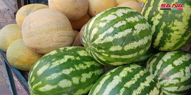 البطيخ سيد الفاكهة الصيفية المحلية بالحسكة